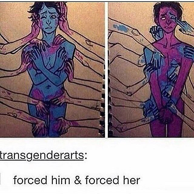 forced him & forced her